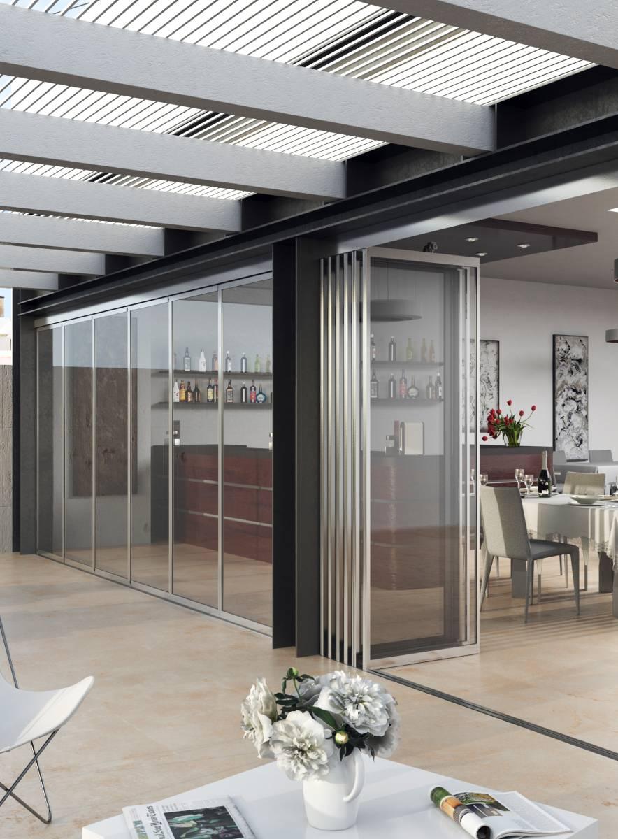 fa ade en verre avec vantaux ouverture totale contemplez le panorama en tous temps pointalver. Black Bedroom Furniture Sets. Home Design Ideas